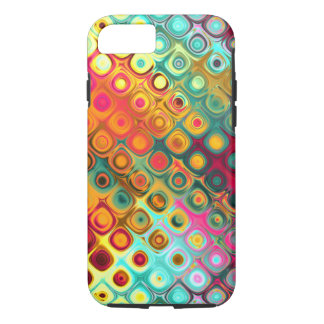 Red Liquid Rainbow Dots Abstract Pattern iPhone 7 Case