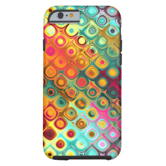 Red Liquid Rainbow Dots Abstract Pattern Tough iPhone 6 Case