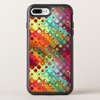 Red Liquid Rainbow Dots OtterBox Symmetry iPhone 7 Plus Case