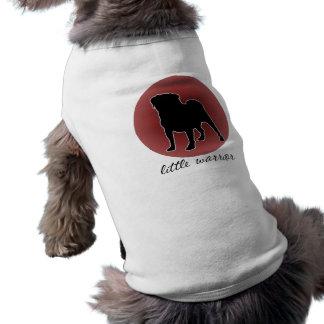 RED little warrior Pug Ribbed Ringer T T-Shirt