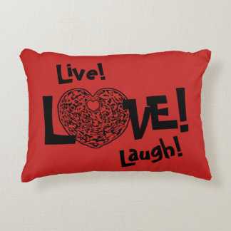 RED Live! Laugh! LOVE! Sweetie❤ Accent Pillow