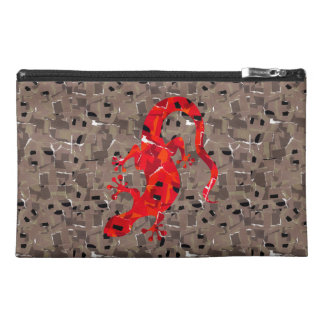 Red Lizard Collage Travel Accessory Bag
