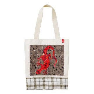 Red Lizard Collage Zazzle HEART Tote Bag