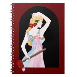 Red Lizzie Spiral Notebooks