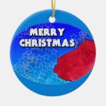 red llama christmas sky stars christmas tree ornaments