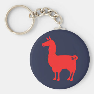 Red Llama Keychain