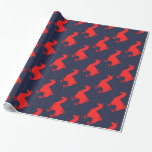 Red Llama Wrapping Paper