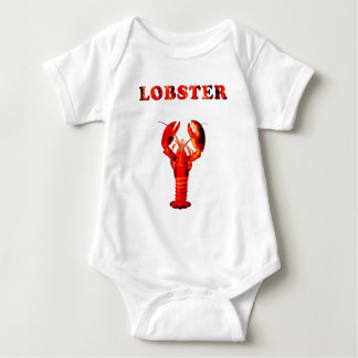 red lobster baby bodysuit