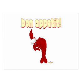 Red Lobster Chef Bon Appetit Postcard