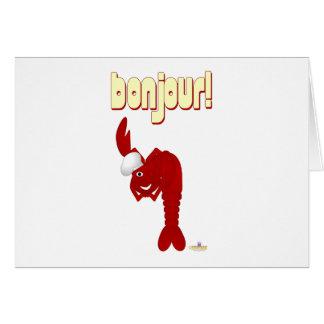 Red Lobster Chef Bonjour Card