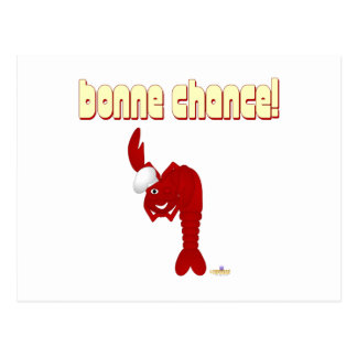 Red Lobster Chef Bonne Chance Postcard