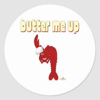 Red Lobster Chef Butter Me Up Classic Round Sticker