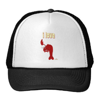 Red Lobster Chef I Love Trucker Hat