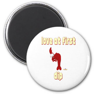 Red Lobster Chef Love At First Dip 2 Inch Round Magnet