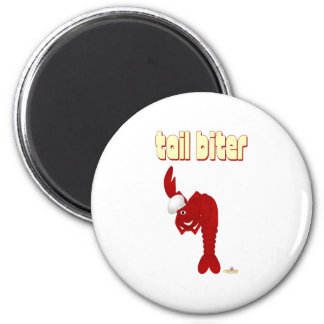 Red Lobster Chef Tail Biter 2 Inch Round Magnet
