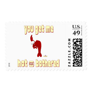 Red Lobster Chef You Get Me Hot And Bothered Postage Stamp