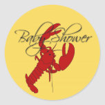 Red Lobster Crayfish Baby Shower Stickers