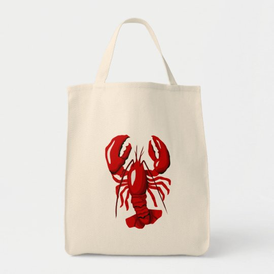 Red Lobster  Grocery Tote Bag
