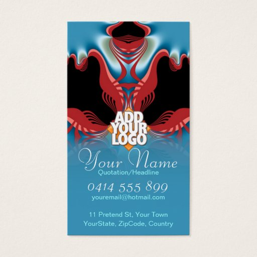 Red Lobster New Age Art Business Card