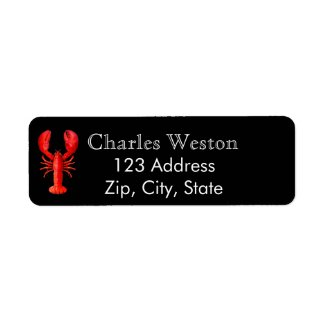 Red lobster on black return address