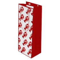Red Lobster Pattern Wine Gift Bag