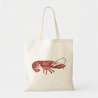 Red Lobster Tote Bag with Retro Vintage Image