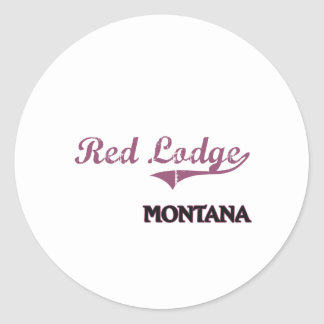 Red Lodge Montana City Classic Classic Round Sticker