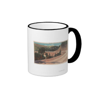 Red Lodge, MT - View of Mae West Curve Coffee Mugs