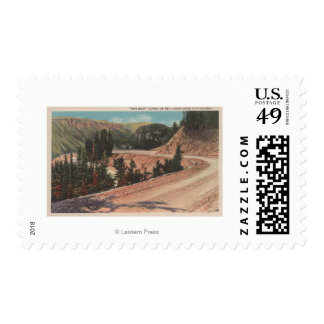 Red Lodge, MT - View of Mae West Curve Postage Stamp