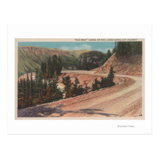 Red Lodge, MT - View of Mae West Curve Postcard