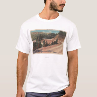 Red Lodge, MT - View of Mae West Curve T-Shirt