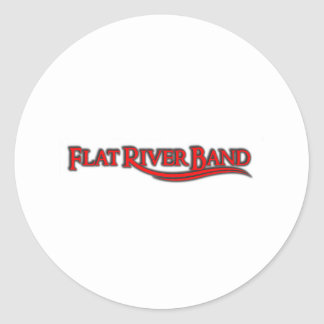 RED LOGO  frb WEAR Classic Round Sticker