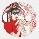 Red Lolita Sticker
