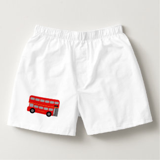 Red London Bus Boxers