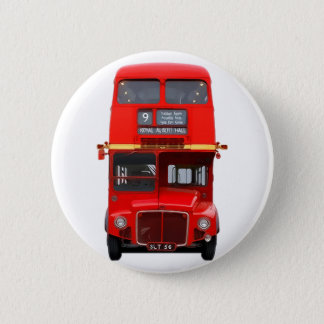 Red London Bus Button Badge