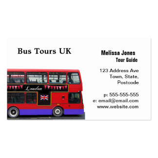 Red London Bus Double Decker Business Card Template