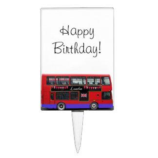 Red London Bus Double Decker Cake Picks