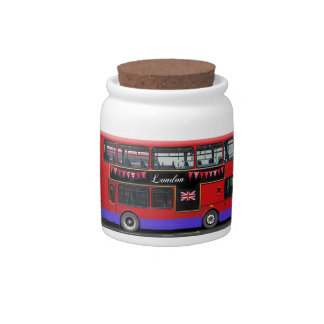 Red London Bus Double Decker Candy Jar