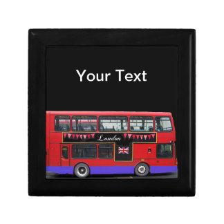 Red London Bus Double Decker Keepsake Boxes
