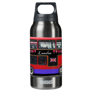 Red London Bus Double Decker Insulated Water Bottle