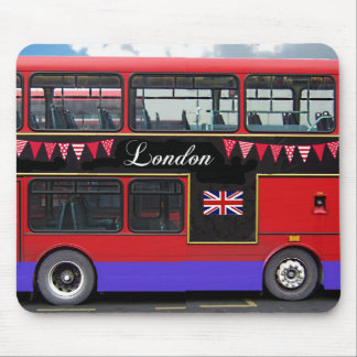 Red London Bus Double Decker Mouse Pad