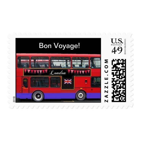 Red London Bus Double Decker Postage