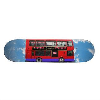 Red London Bus Double Decker Skate Board