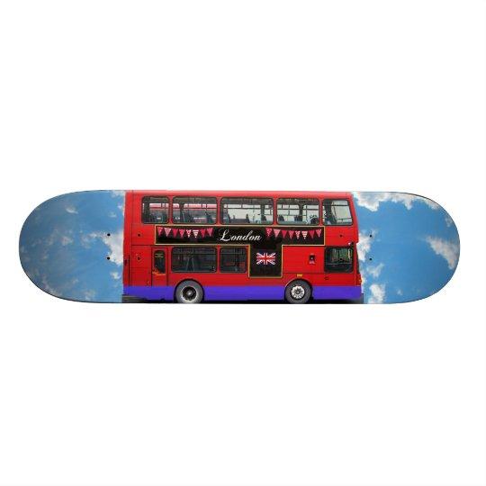 Red London Bus Double Decker Skateboard Deck