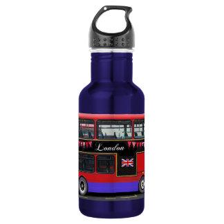 Red London Bus Double Decker Water Bottle