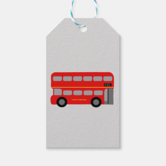 Red London Bus Gift Tags