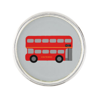 Red London Bus Lapel Pin