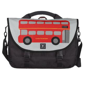 Red London Bus Laptop Messenger Bag