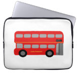 Red London Bus Laptop Computer Sleeve