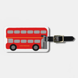 Red London Bus Bag Tags